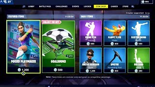 Fortnite ITEM SHOP 16 February 2019 ( Soccer Skins + Arctic Assassin Skin Available)