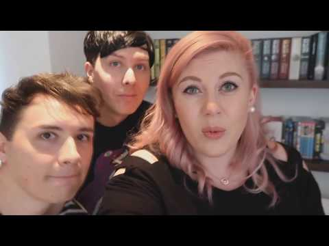 dan and phil in louise's vlog