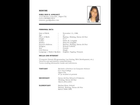 How To Make Simple Resume In Ms Word 2007