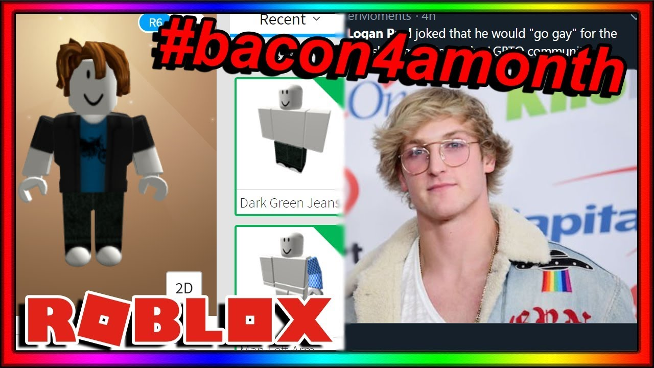 i'm now a BACON HAIR for ONE MONTH   (roblox)