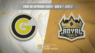 Mundial 2019: Fase de Entrada - Dia 5 | Clutch Gaming x Royal Youth (Jogo 3)