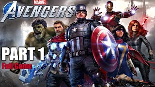 MARVEL'S AVENGERS Gameplay Walkthrough Part 1 FULL GAME (PS4 Pro)