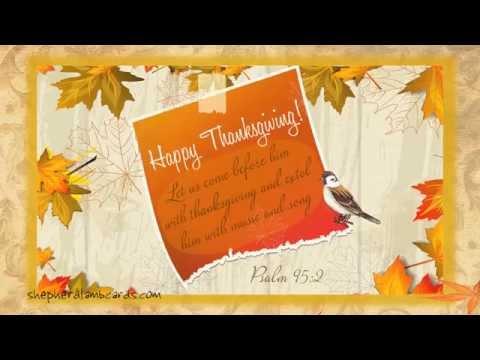 Free Vintage Thanksgiving Musical Animated Bible eCard