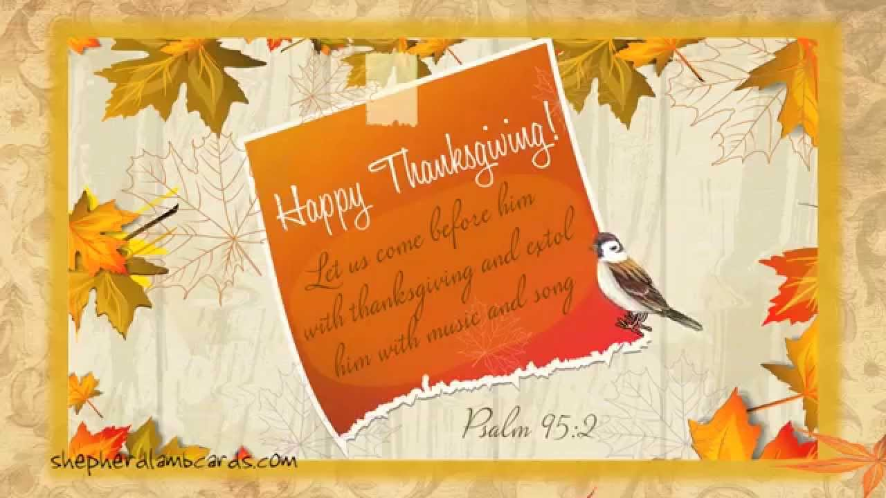 Free vintage thanksgiving musical animated bible ecard youtube kristyandbryce Choice Image