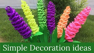 Decorative  Flowers Making | Easy Paper Crafts For Kids | Paper Crafts Step By Step