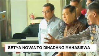 Keluar KPK, Setya Novanto Dihadang 'Nyanyian' Mahasiswa, Setnov Diperiksa KPK