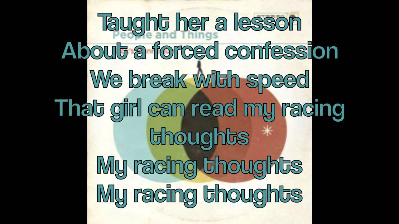 My Racing Thoughts w/LYRICS! - Jack's Mannequin - YouTube