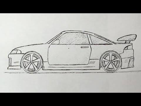 Как рисовать автомобиль