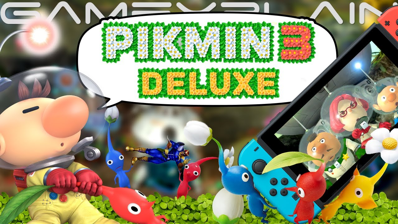 Finally Pikmin 3 Deluxe Reveal Discussion New Story Content Co Op Controls Mystery Youtube