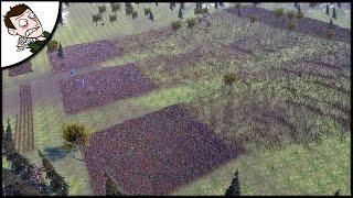 Massive 40000 Roman v Barbarian Survival Battle - Ultimate Epic Battle Simulator Gameplay
