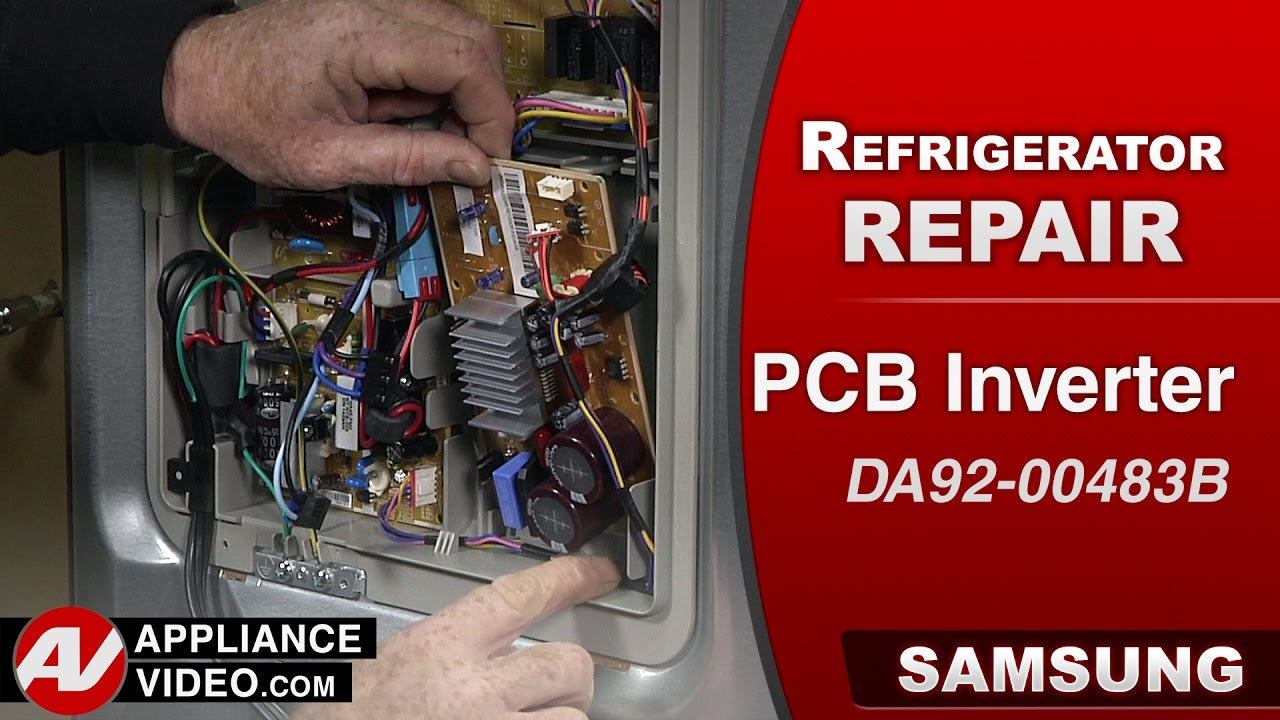 Samsung Refrigerator – The pressor will not start – PCB Inverter  Repair & Diagnostics  YouTube