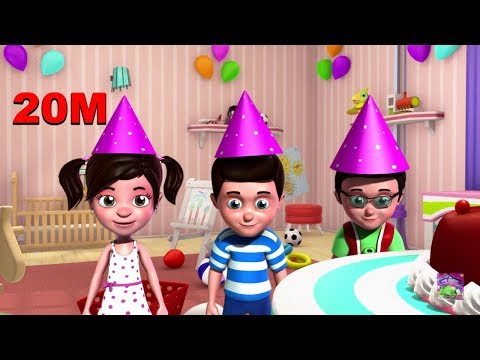 happy birthday song 3D Nursery Rhymes for Kids