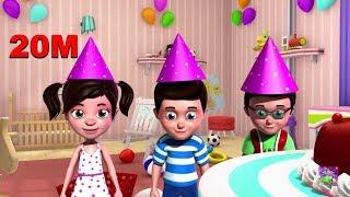 happy birthday song 3D Nursery Rhymes for Kids
