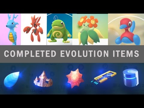 cda83f1b96 Pokemon Go Evolution Items completed all type! Gen 2 evolution - YouTube