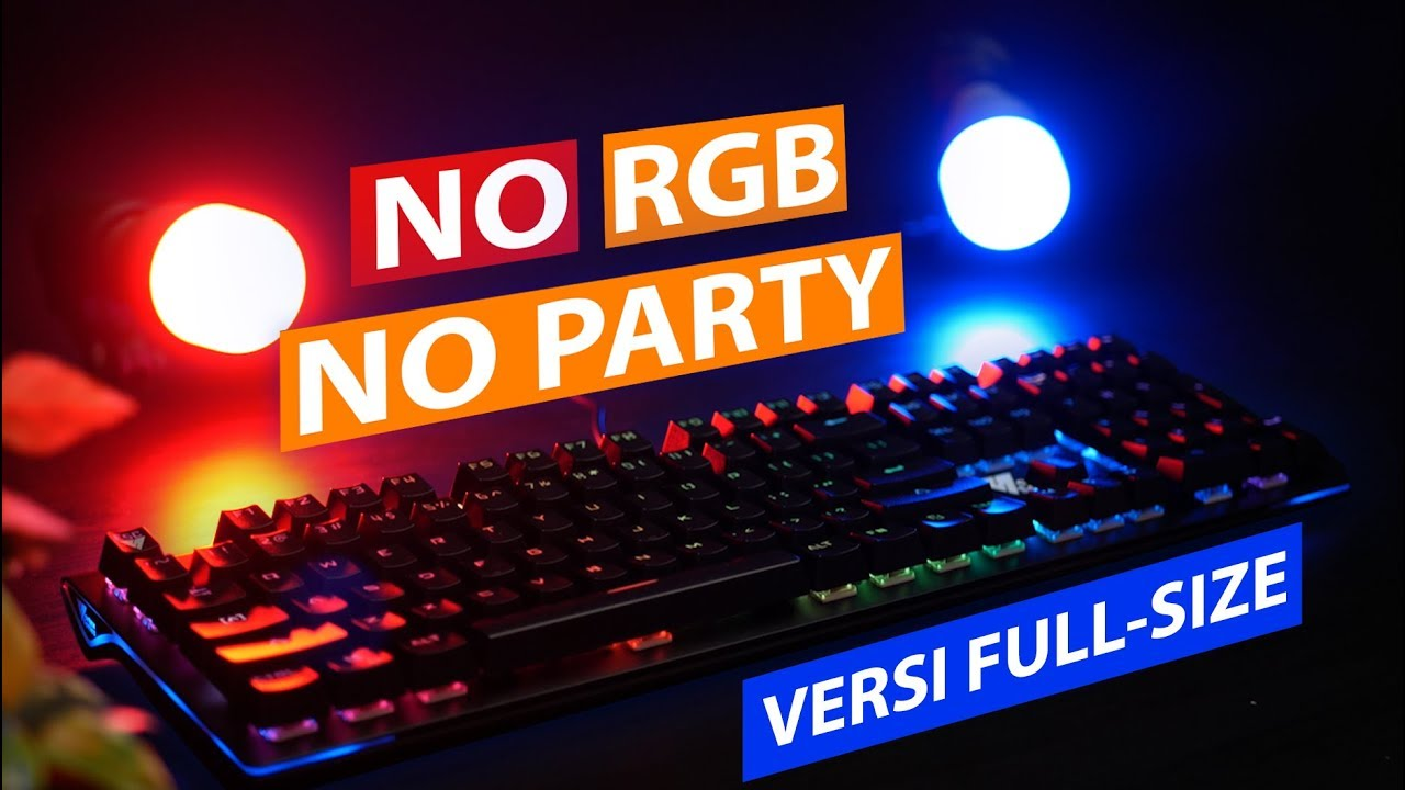 Keyboard Gaming Full Size, Full RGB, Full juga murahnya?? 🤑🤑 | Review VortexSeries VX10 Indonesia