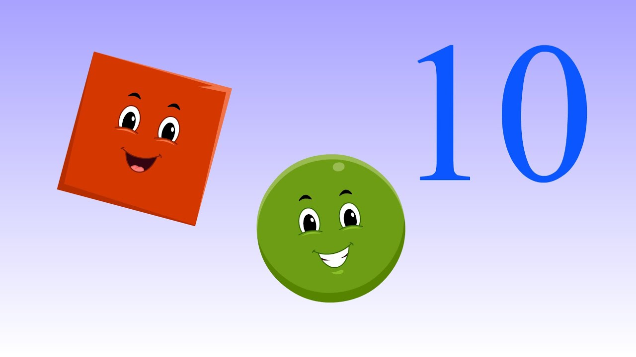 Ten Little Shapes | Shapes Song | Ten Little Kids Songs | Super Toddlers