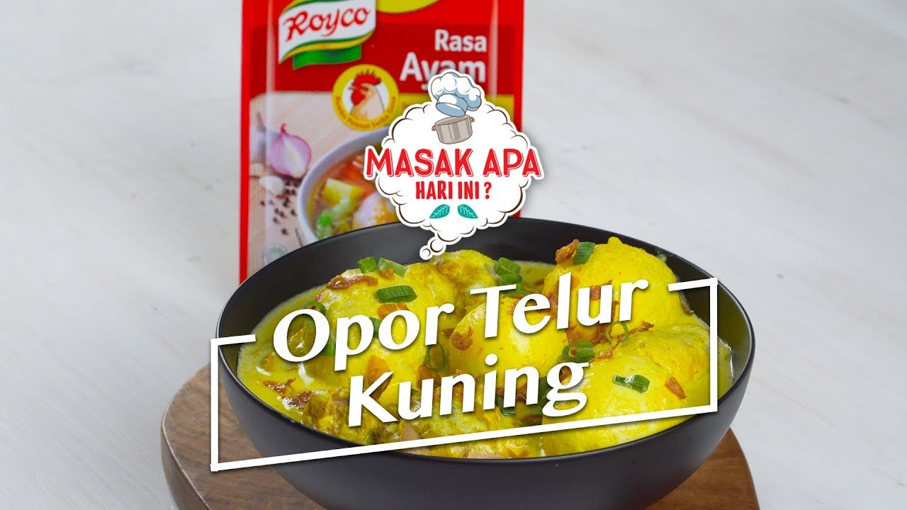 Resep Opor Telur Kuning Youtube