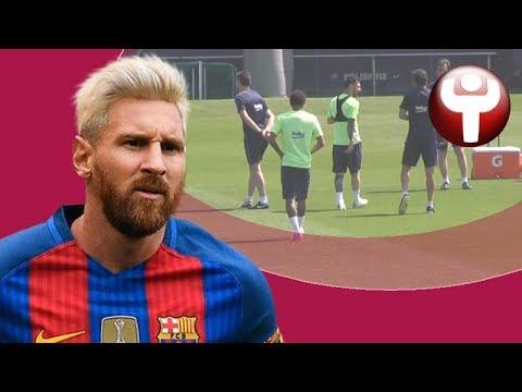 Messi arropa a Luis Enrique en su último entrenamiento