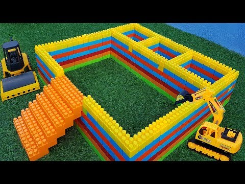 Building Blocks Toys For Children | Small Car Parking Use Truck, Dump Toys For Kids