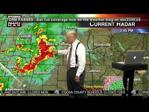 April 28, 2014 Tornado Coverage/ABC 33/40 3-4 pm - YouTube