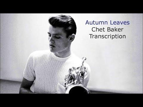 Autumn Leaves-Chet Baker's (Bb) Transcription.Transcribed by Carles Margarit