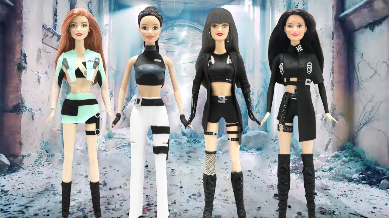 Play Doh Blackpink Kill This Love Inspired Costumes Barbie Dolls Youtube