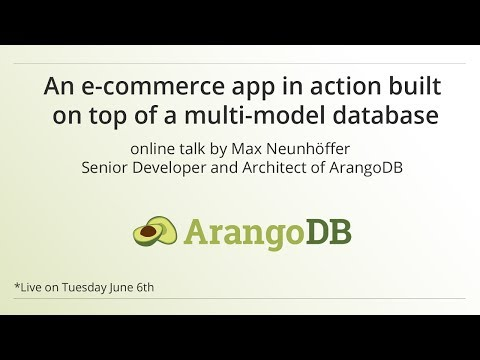 An e-commerce app in action built on top of a multi-model da