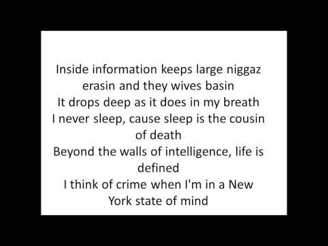 "Nas-""Ny State Of Mind"" Lyrics On Screen"