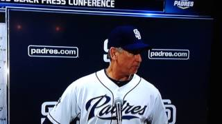Bud Black vs. San Diego media member
