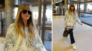 Heidi Klum Wears A Very Interesting Outfit For Her Flight ...