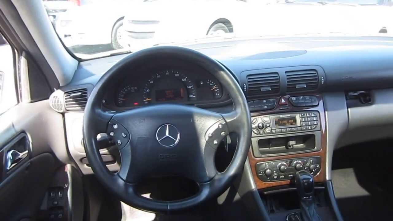 2004 MercedesBenz C240 White  STOCK L616462  Interior  YouTube