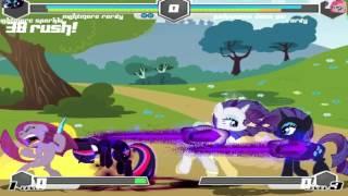 Fighting Is Magic Mugen Nightmare Rarity & Nightmare Sparkle VS Pinkamena & Rarity