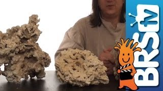 Dry live rock.  Pukani, Fiji and Reef Saver rock for aquariums