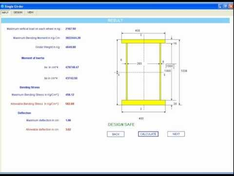 Solidworks Automation - Crane Single Girder - YouTube