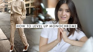 How to Monochrome  Wearing Solid Color Outfits  Dearly Bethany
