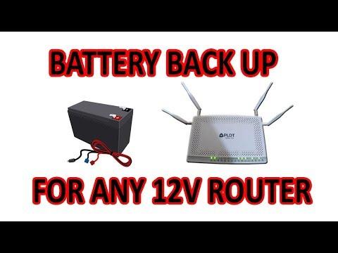 12V DC Backup Battery for 12V router - DIY - YouTube