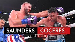 Billy Joe Saunders vs Marcelo Coceres | FULL FIGHT | KSI vs Logan Paul 2 Undercard 🥊