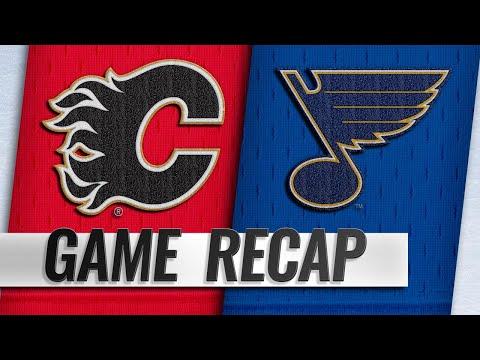 Gaudreau, Quine each score twice as Flames rout Blues