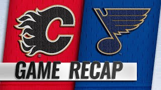 Gaudreau, Quine each score twice as Flames rout Blues