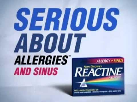 REACTINE Allergy & Sinus - YouTube