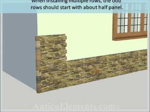 Faux Stone Installation Youtube