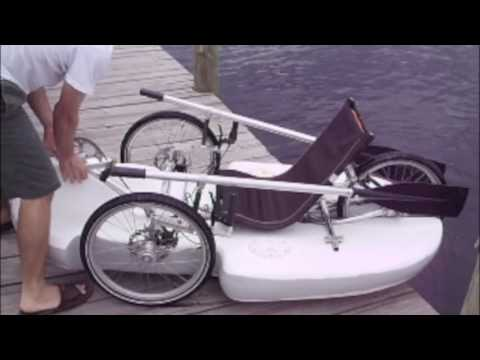 Bike Boat Ultimate Human Powered Vehicle Amphibious Youtube