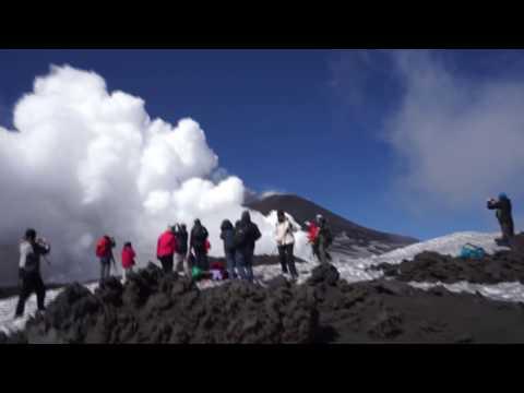 Mount Etna Eruption March 16th 2017 Escape Run