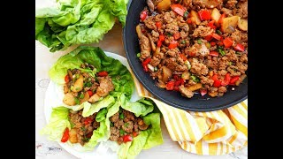 Dinner Recipe: Asian Style Turkey Lettuce Wraps by Everyday Gourmet with Blakely