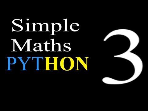 RA- Python Tutorial - Simple Maths- Episode 3 thumbnail