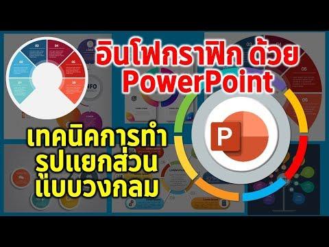 PowerPoint : เทคนิคการทำอินโฟกราฟิกแบบวงกลมแยกส่วน
