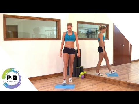 How To Strengthen Your Ankle - Single leg balance on Air pad
