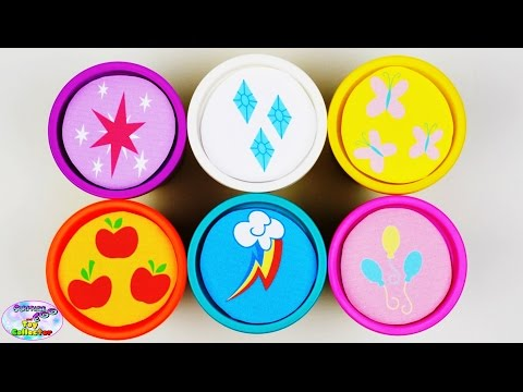 My Little Pony Learning Colors Play Doh Mane 6 Shopkins MLP Surprise Egg and Toy Collector SETC