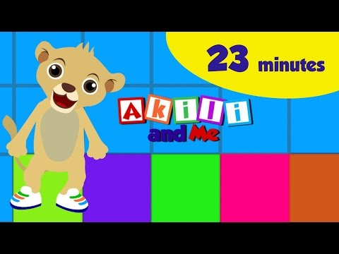 Colors and Shapes in Kiswahili! | Akili and Me Kiswahili | African Educational Videos!