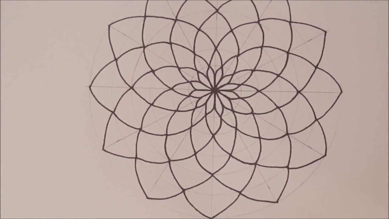 How To Draw Mandala Basic Step By Step & Tips  Espanol & English  Speed  Draw